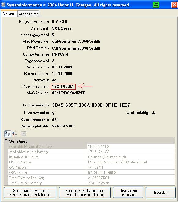Systeminformationen_ip