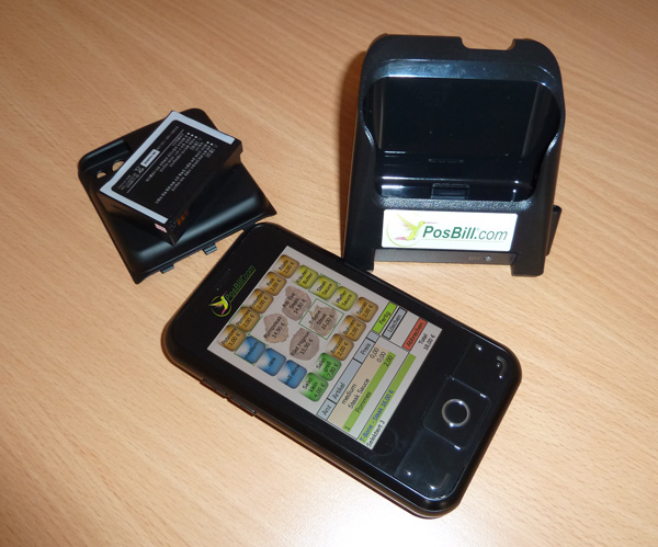 PosBill mobile Funkkasse inkl. optionalem Powerakku und Ladestation