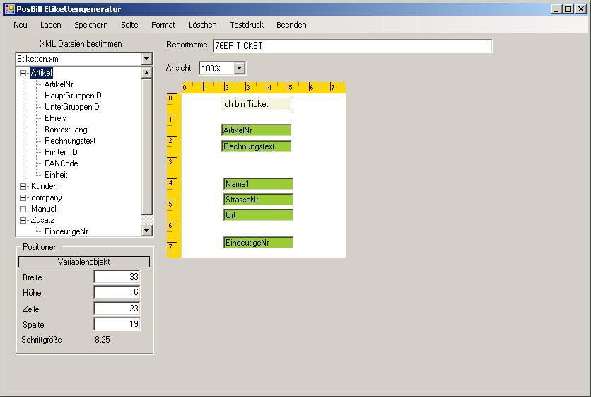 Ticketdesign im Generator individuell anpasse