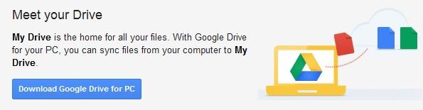 Download des Google Drive Clients