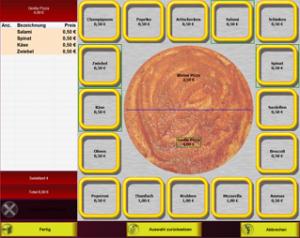 PosBill Kassensoftware - Pizza Artikelbaukasten