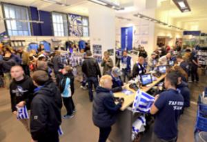 Kassensoftware von PosBill im Fanshop von Hertha BSC