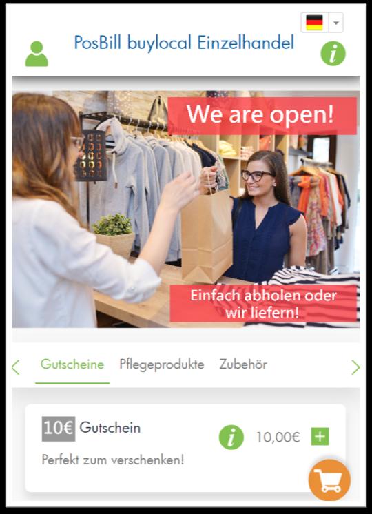 PosBill buylocal: Mit Gutscheinen den Umsatz generieren