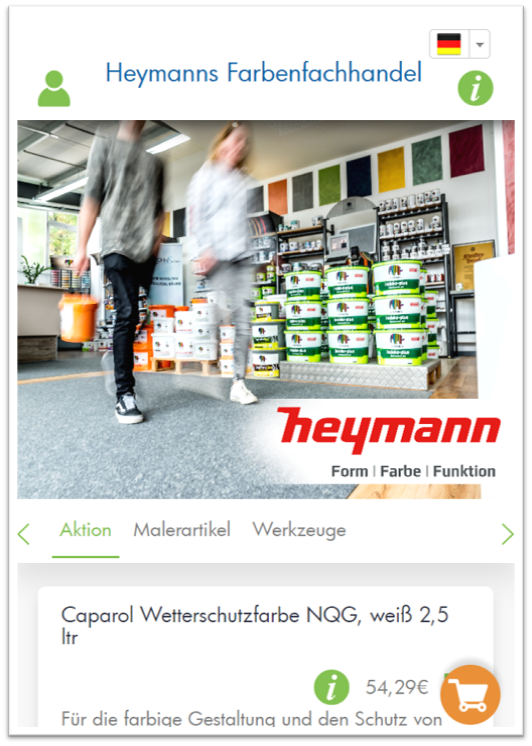 PosBill buylocal: Heymanns Farbenfachhandel